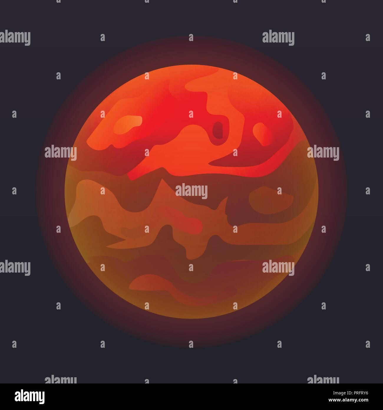Venus planet icon, isometric style - Stock Image