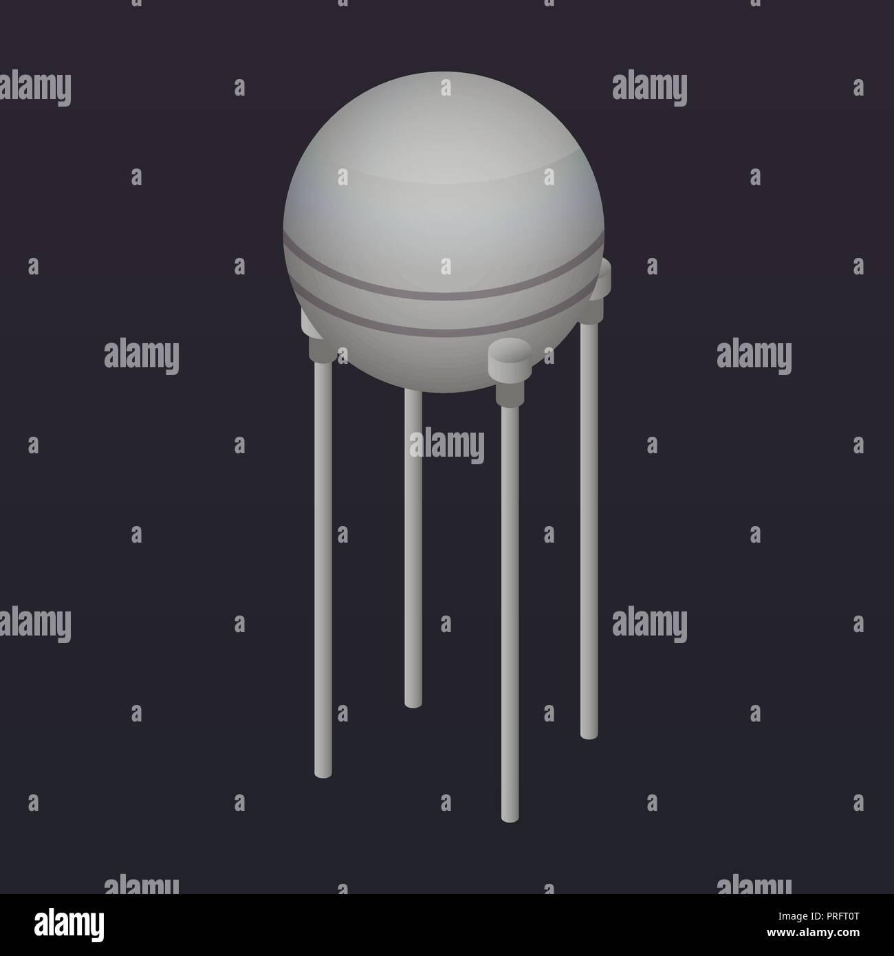Orbital satellite icon, isometric style - Stock Image