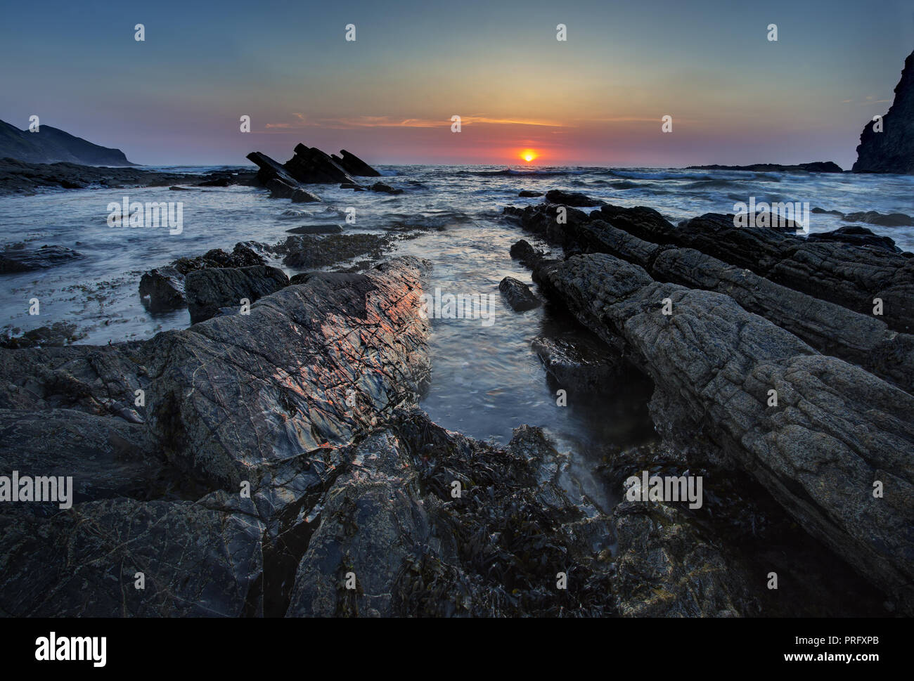 Crackington haven in Cornwall,uk - Stock Image