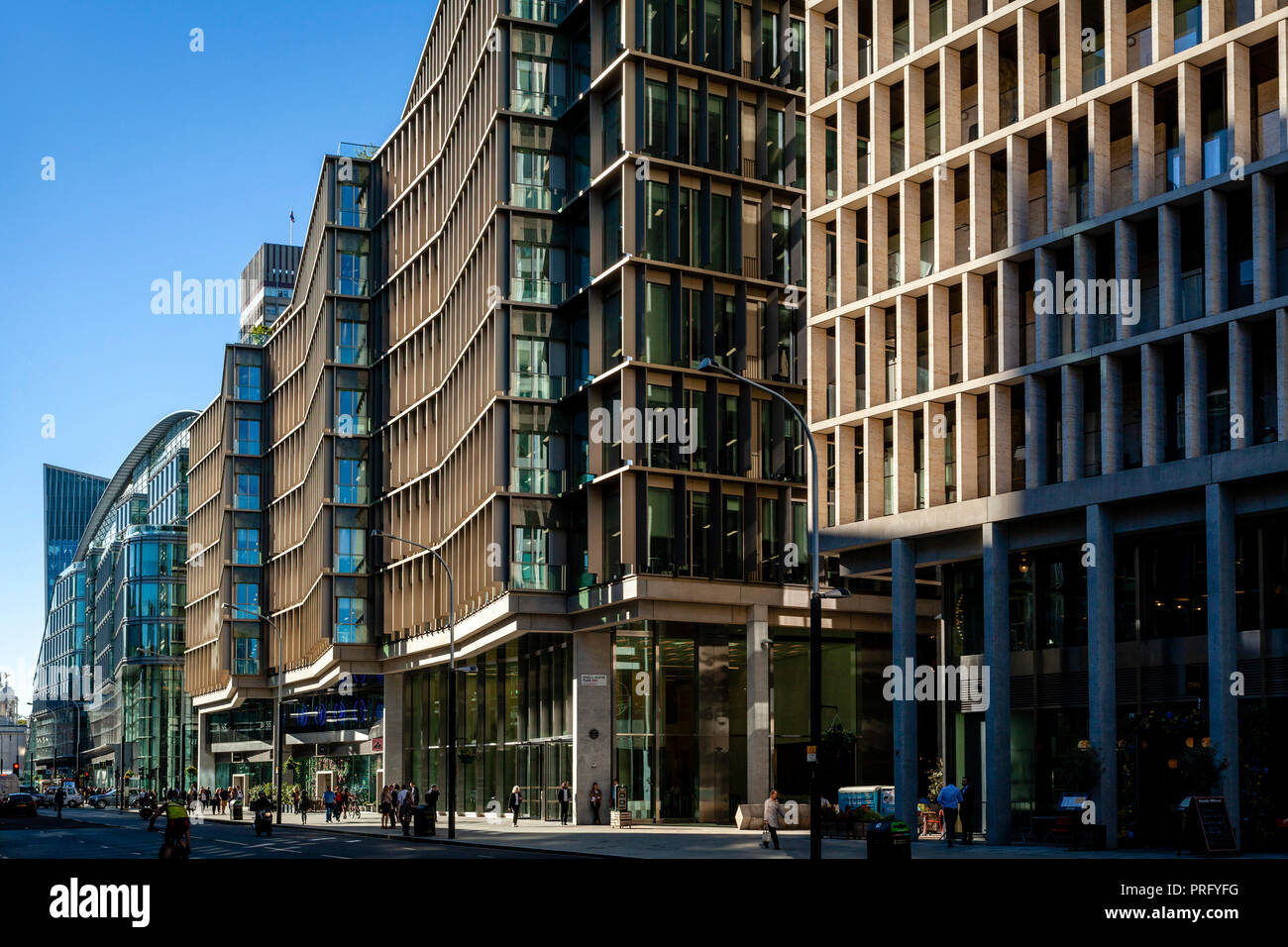 Buildings In Victoria Street, London, UK - Stock Image