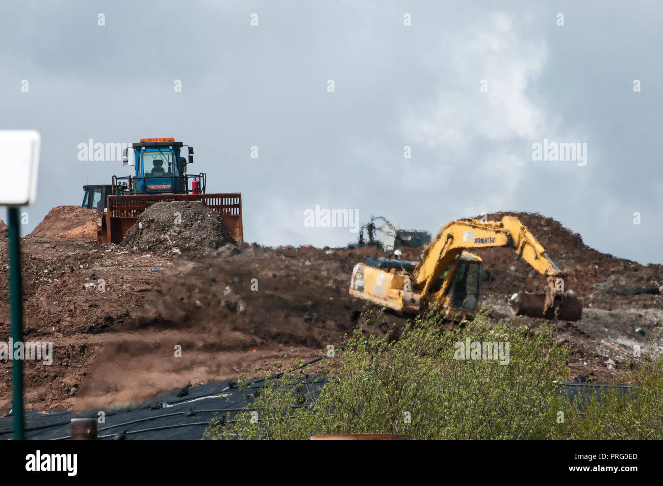 Waste Landfill - Stock Image