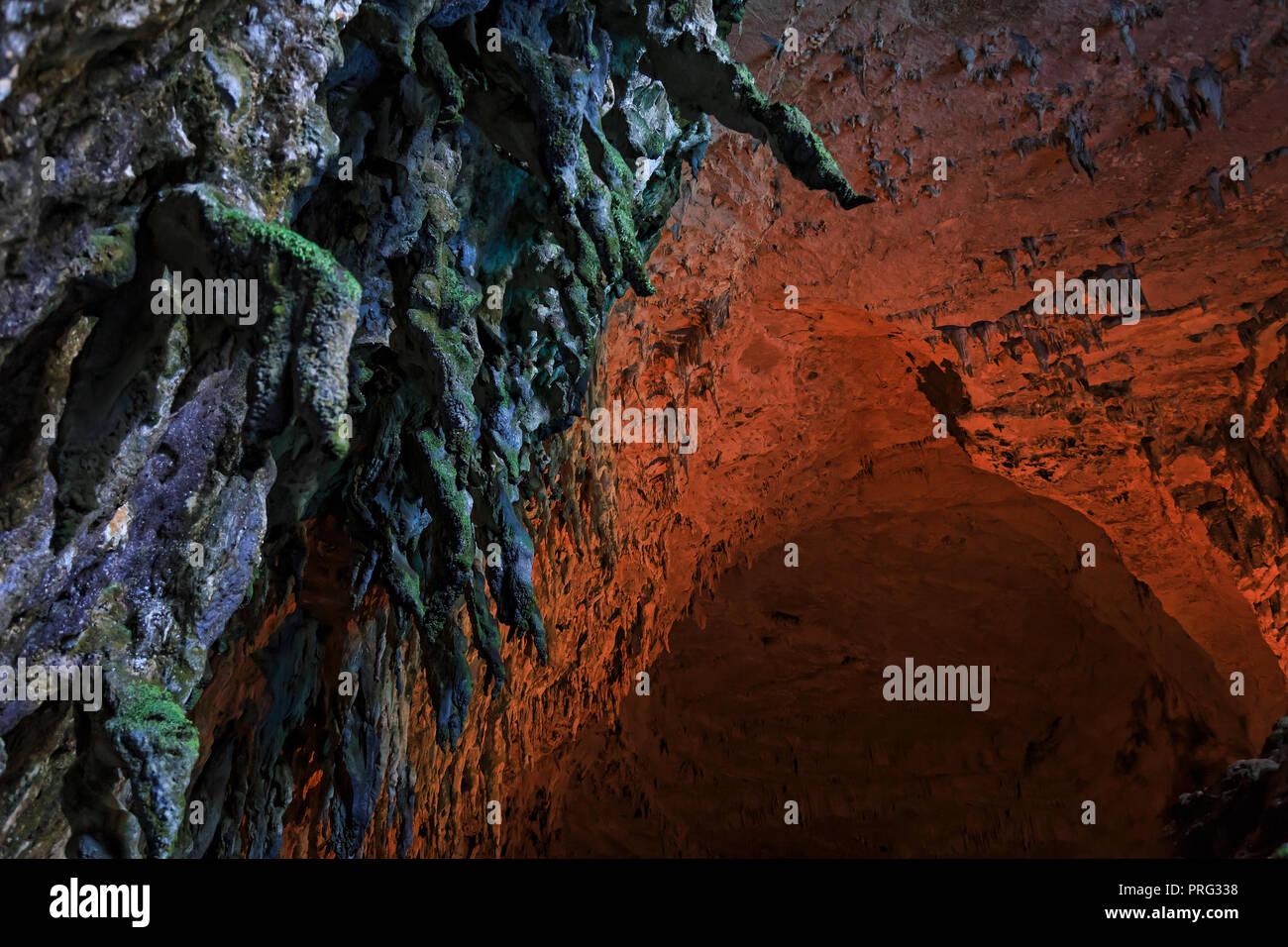 Melissani Cave Kefalonia - Stock Image