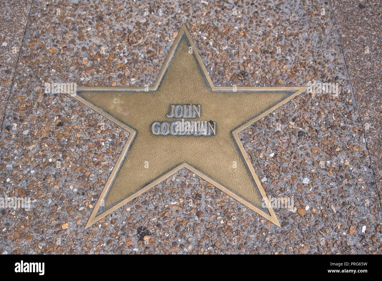 Actor John Goodman´s star on the St. Louis Walk of Fame, Delmar Boulevard, Delmar Loop, St. Louis, Missouri, USA - Stock Image