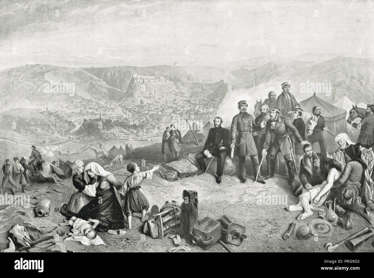 The defence of Kars, June - November 1855, during the Crimean war - Stock Image