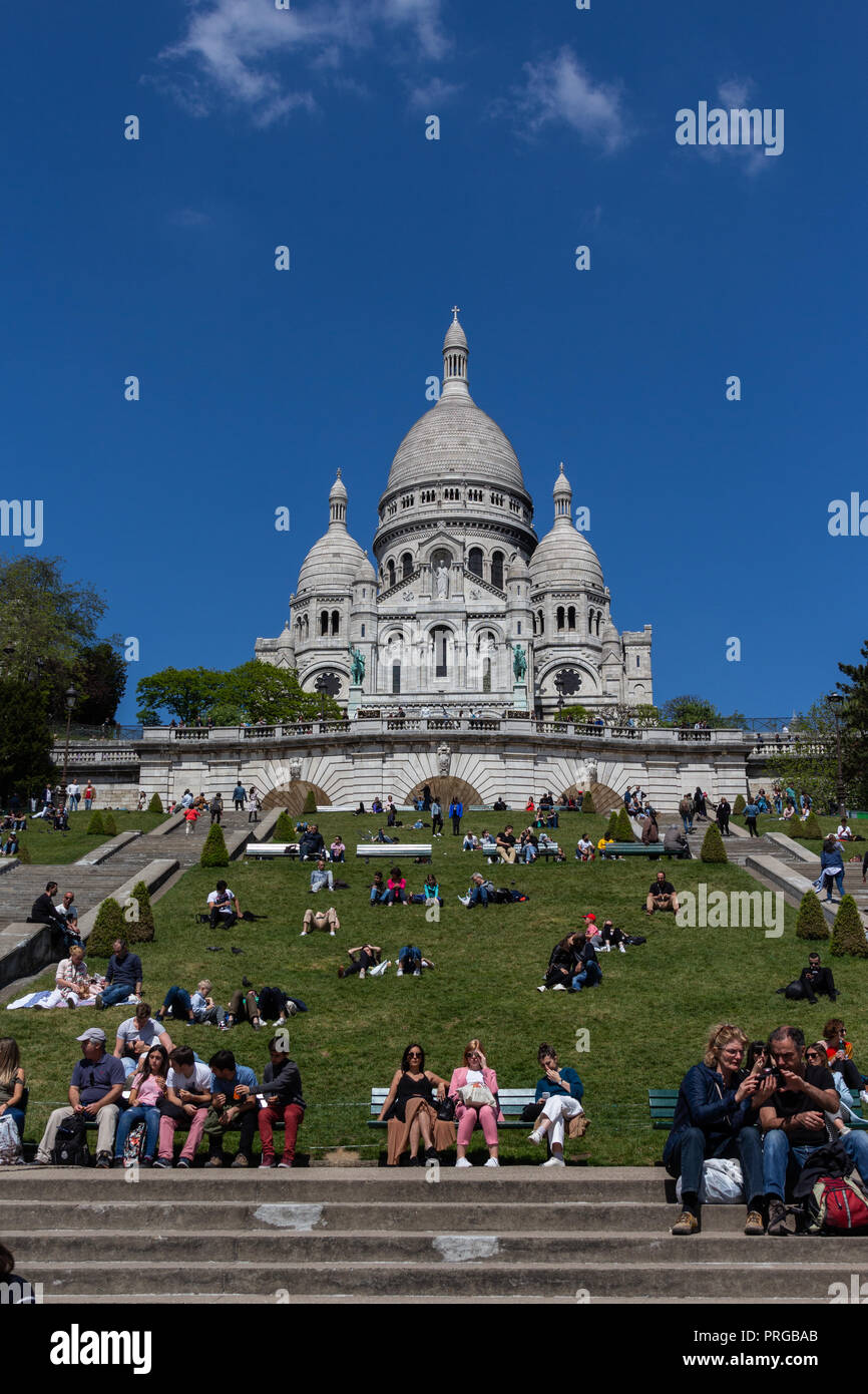 A great view of Montmartre - Stock Image