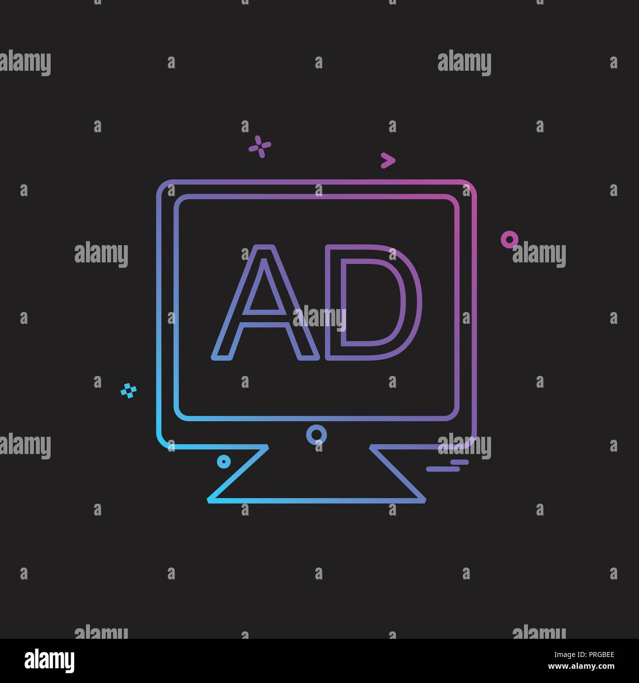 At Screen Monitor Stock Vector Images Page 49 Alamy Aldl To Usb Schematic Lcd Multimedia Business Office Icon Desige