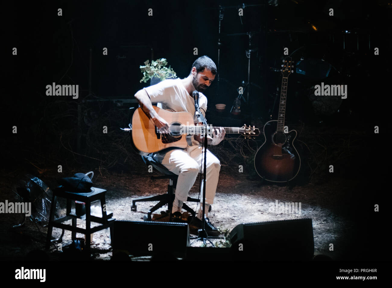 Milan, Italy. 1st October, 2018. The scottish band Biffy Clyro performs on stage during the MTV Unplugged European Tour. Luca Quadrio/Alamy Live News Stock Photo