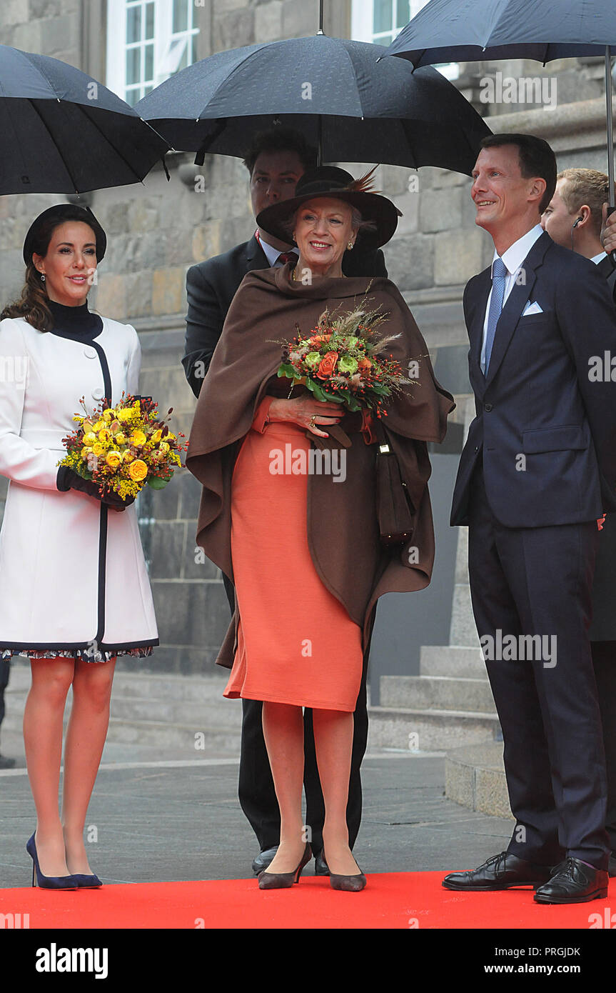 Copenhagen, Denmark  2nd October, 2018  Danish Royal family H M The