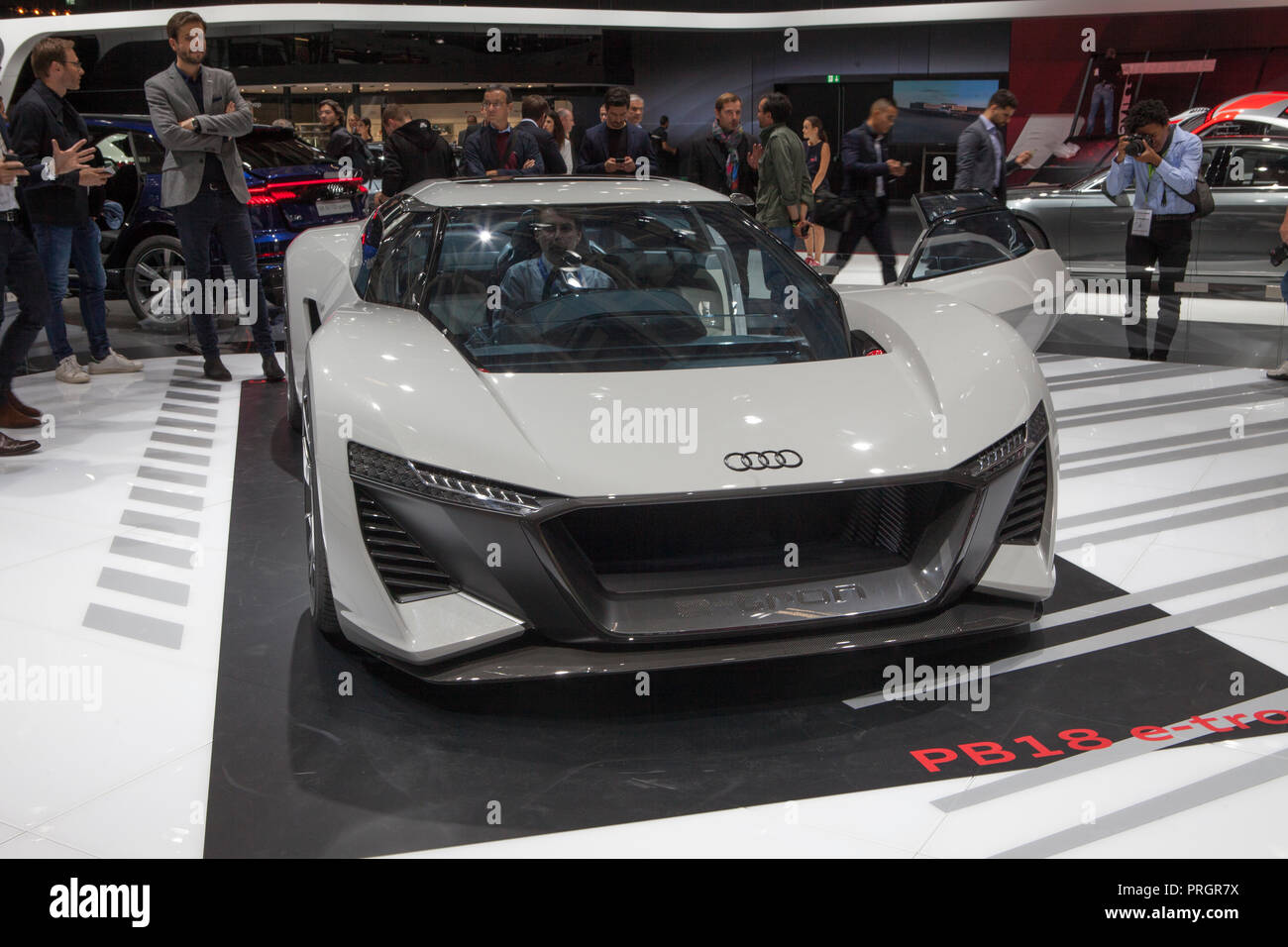 Mondial Paris motor show 2018 France - Stock Image