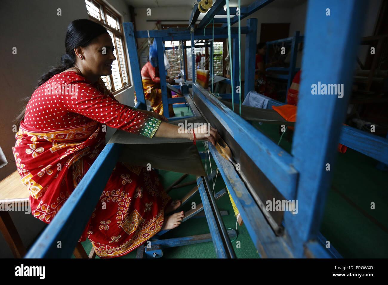 Kathmandu Nepal 2nd Oct 2018 Nepalese Women Who Are Victims Of