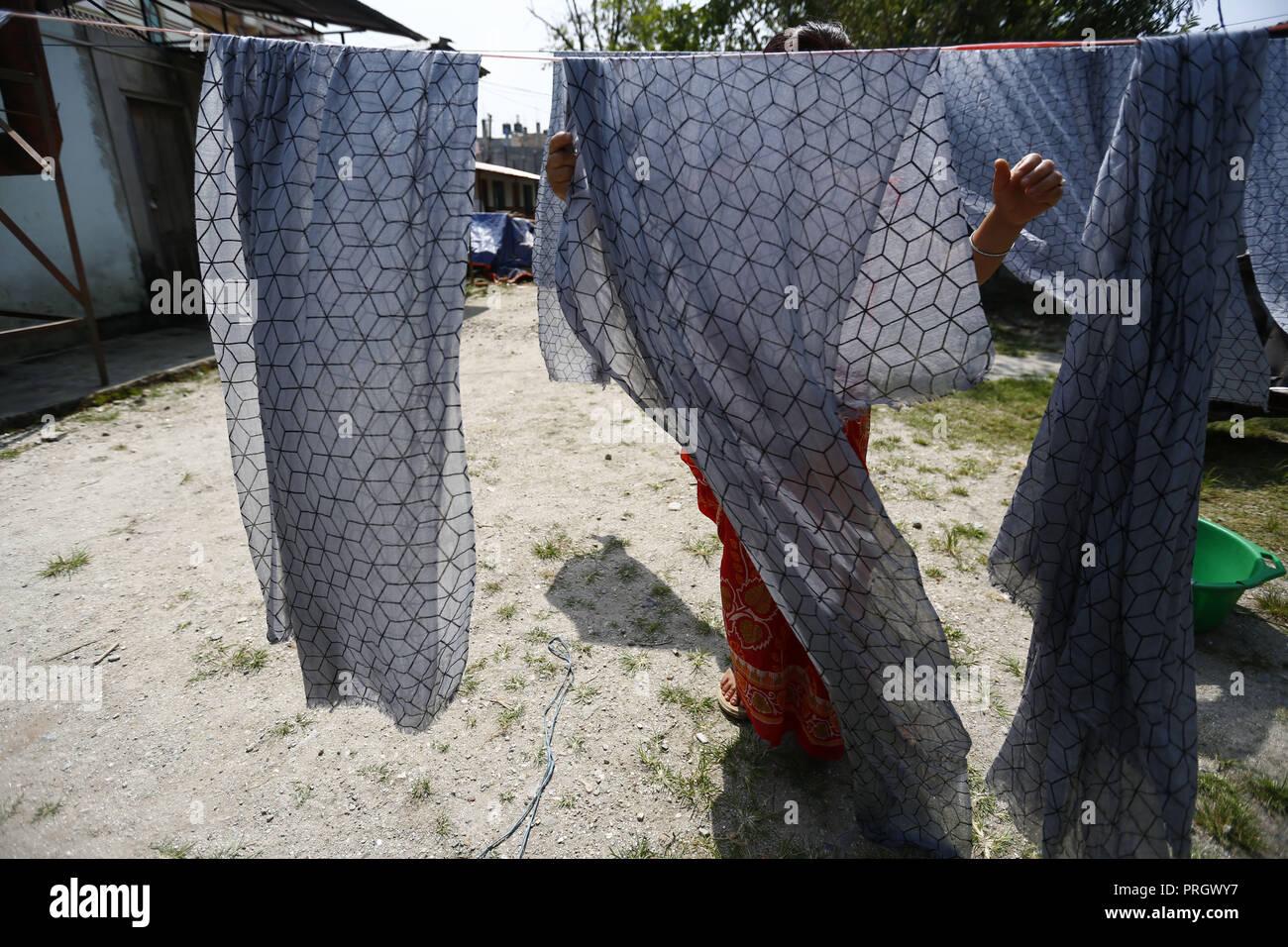Kathmandu Nepal 2nd Oct 2018 A Nepalese Woman Who Is Victims Of