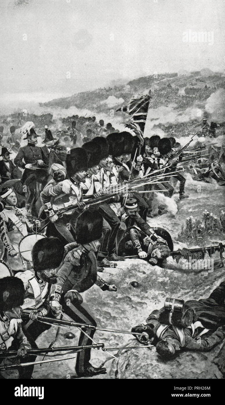 Storming of the great redoubt, the Battle of the Alma, 20 September 1854 - Stock Image