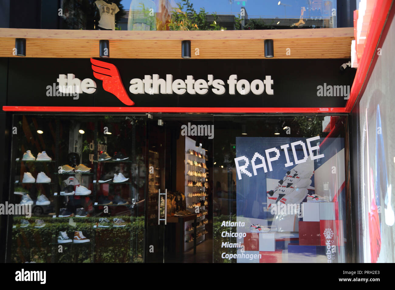 Glyfada Athens Greece The Athletes Foot Shoe Shop - Stock Image