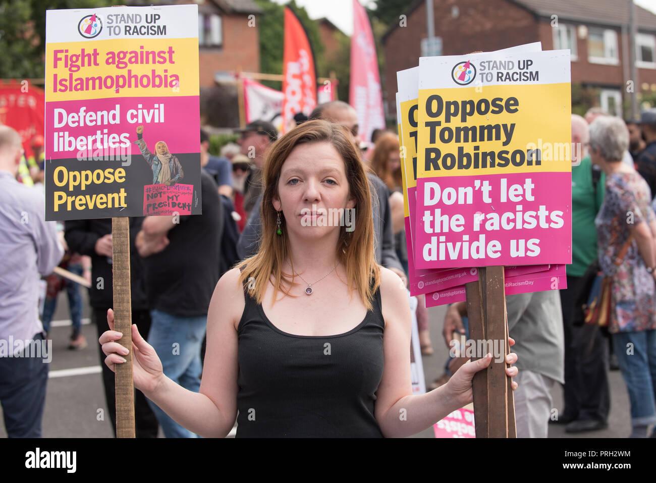 Anti racism campaigner - Stock Image