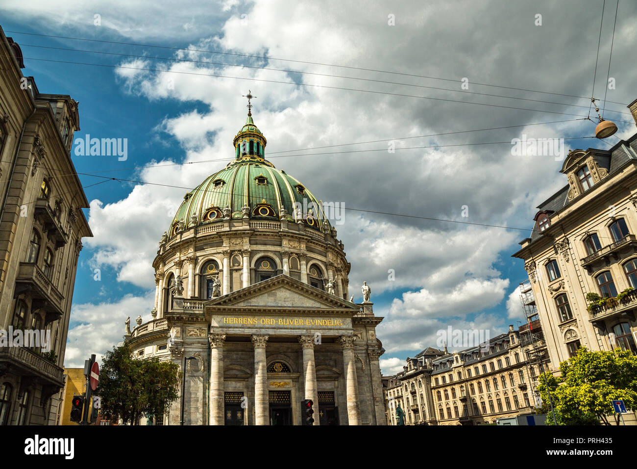 Marmorkirken, the marble church, or the Church of Frederik - Stock Image
