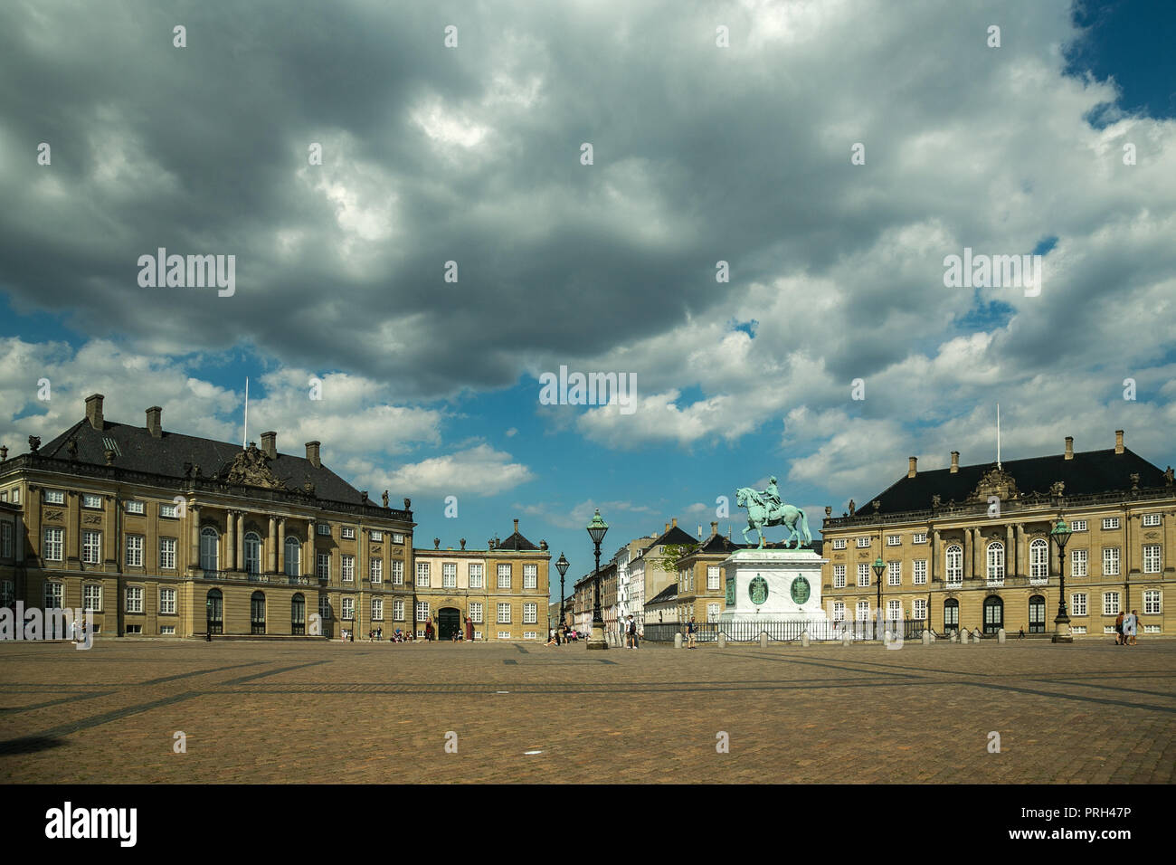 Amalienborg Palace,  the home of the Danish royal family - Stock Image
