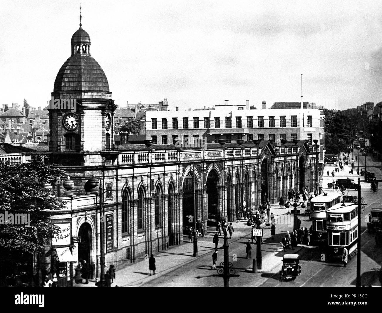 Midland Railway Station, Leicester early 1900's - Stock Image