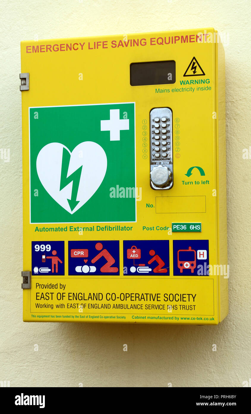 Emergency, Life Saving Equipment, container, East of England, Co-Operative Society, NHS Trust, East of England, Ambulance Service - Stock Image