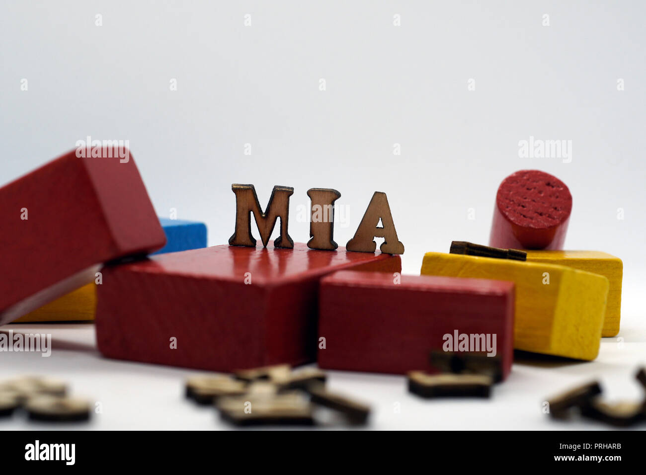 popular female first name mia - Stock Image