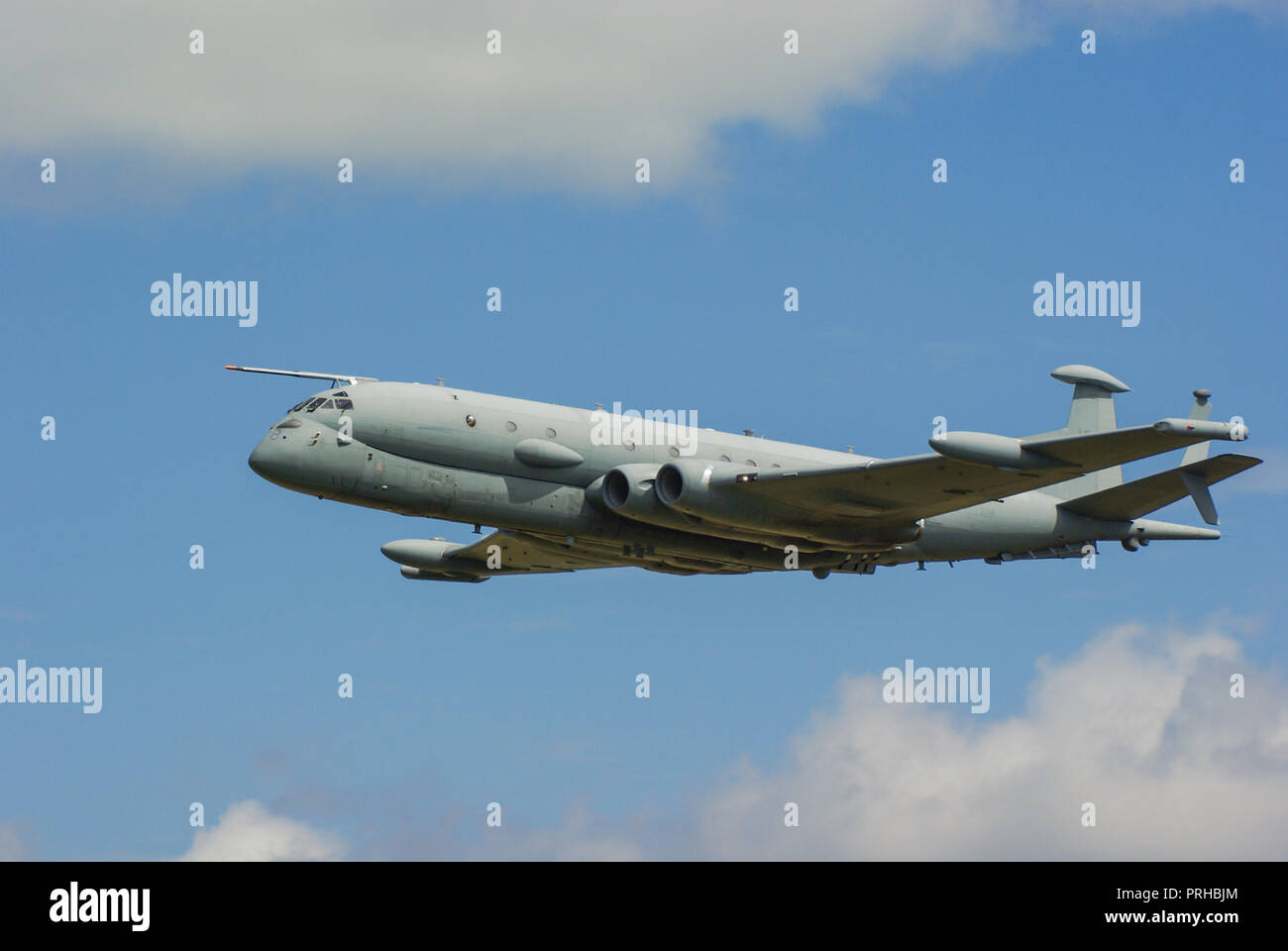 BAE Systems Nimrod MRA4 maritime patrol and attack aircraft intended to replace the Hawker Siddeley Nimrod MR2. Anti submarine warfare. ZJ518. Axed Stock Photo