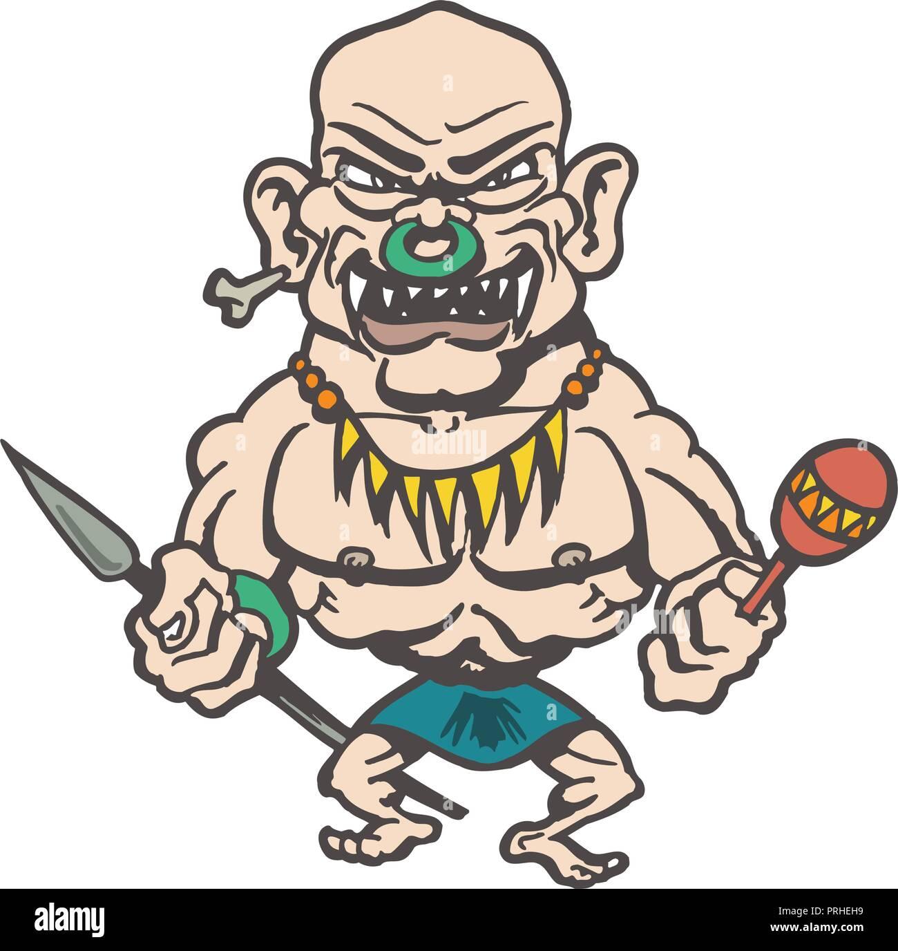 tribes of inland cartoons. Cartoon character Vector Illustration. - Stock Vector
