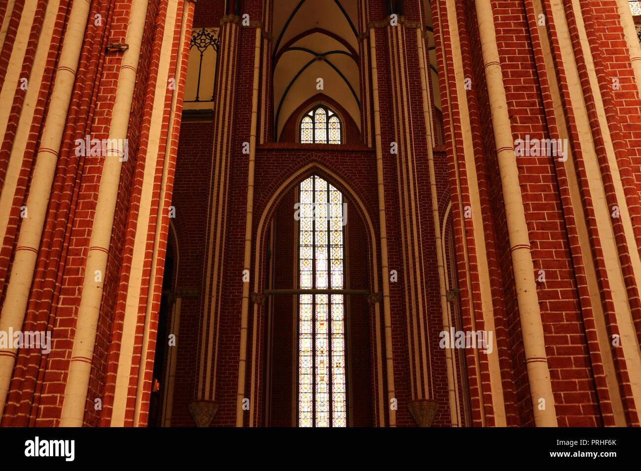 Innenaufnahme der ehemaligen Klosterkirche in Bad Doberan - Stock Image