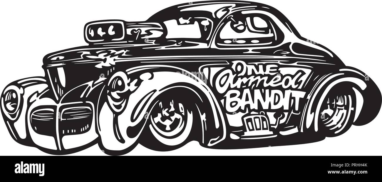 Vector Retro Hotrod Car Clipart Cartoon Illustration Classic Vintage Car Stock Vector Image Art Alamy