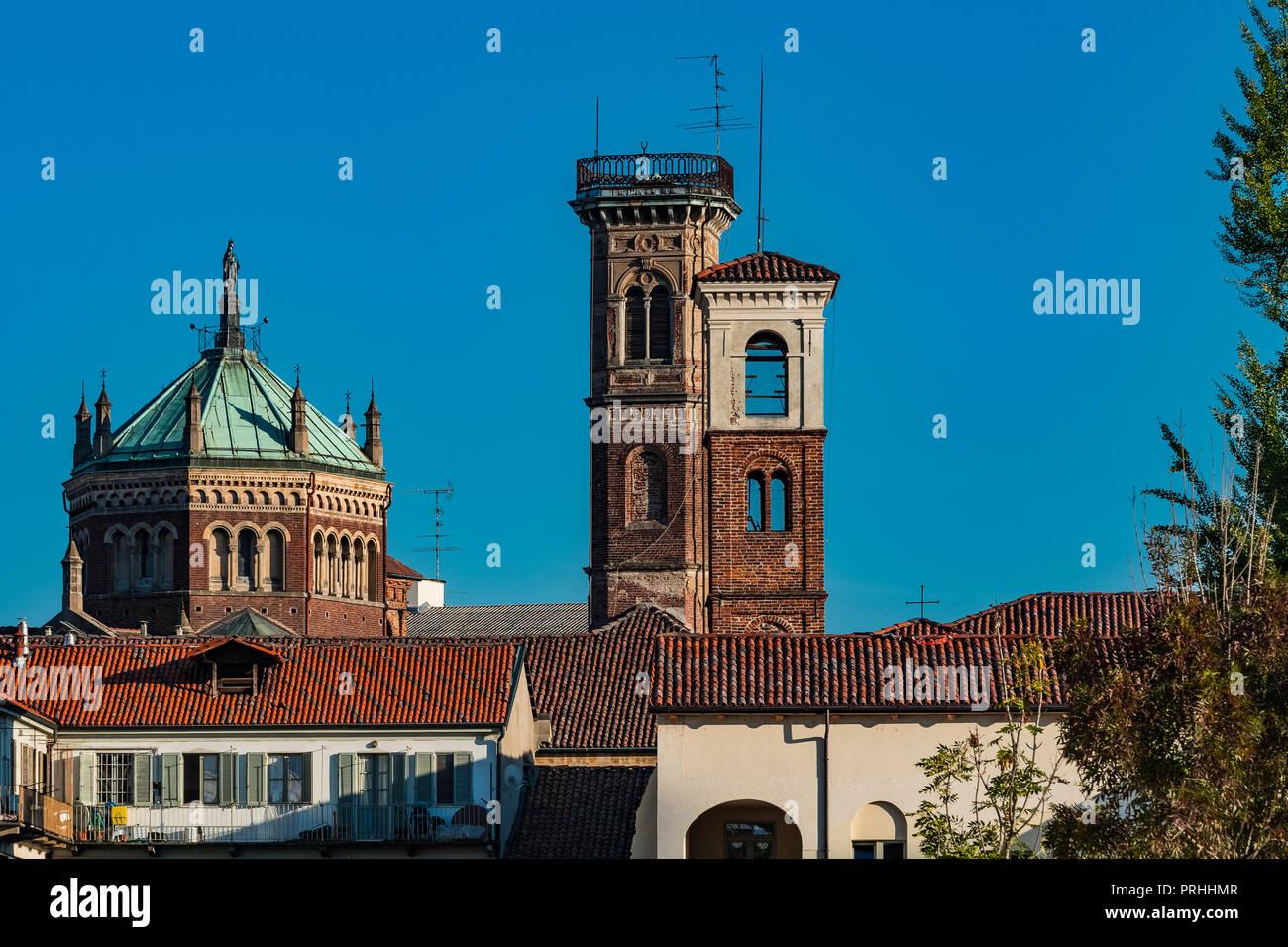 Italy Piedmont Vercelli Parish Church of S. Bernardo and the Madonna degli Infermi - Stock Image