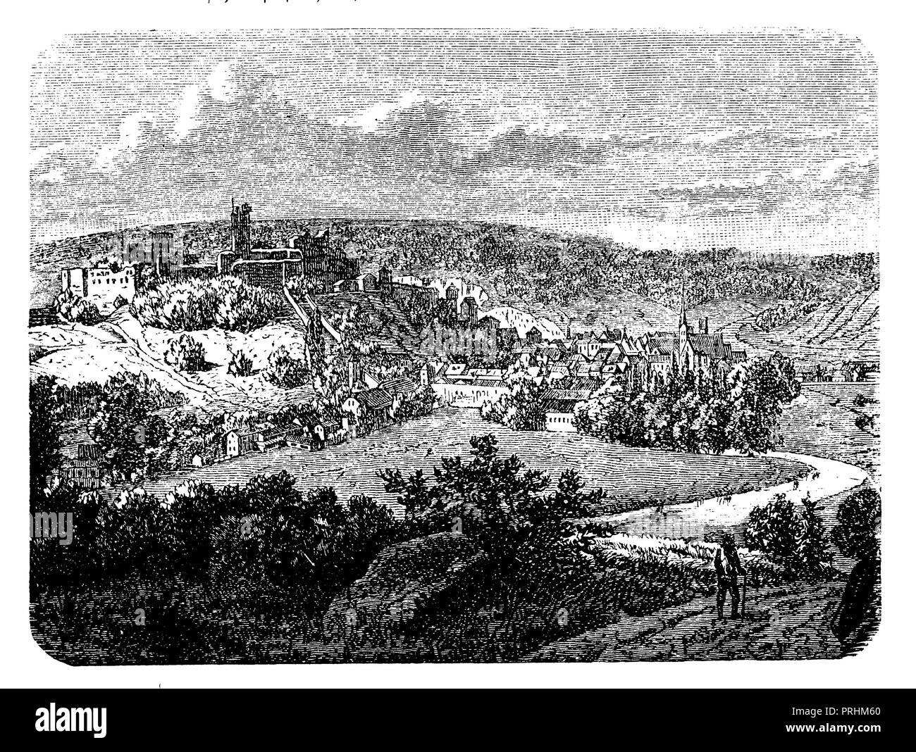 Pappenheim in the Altmühltal, - Stock Image