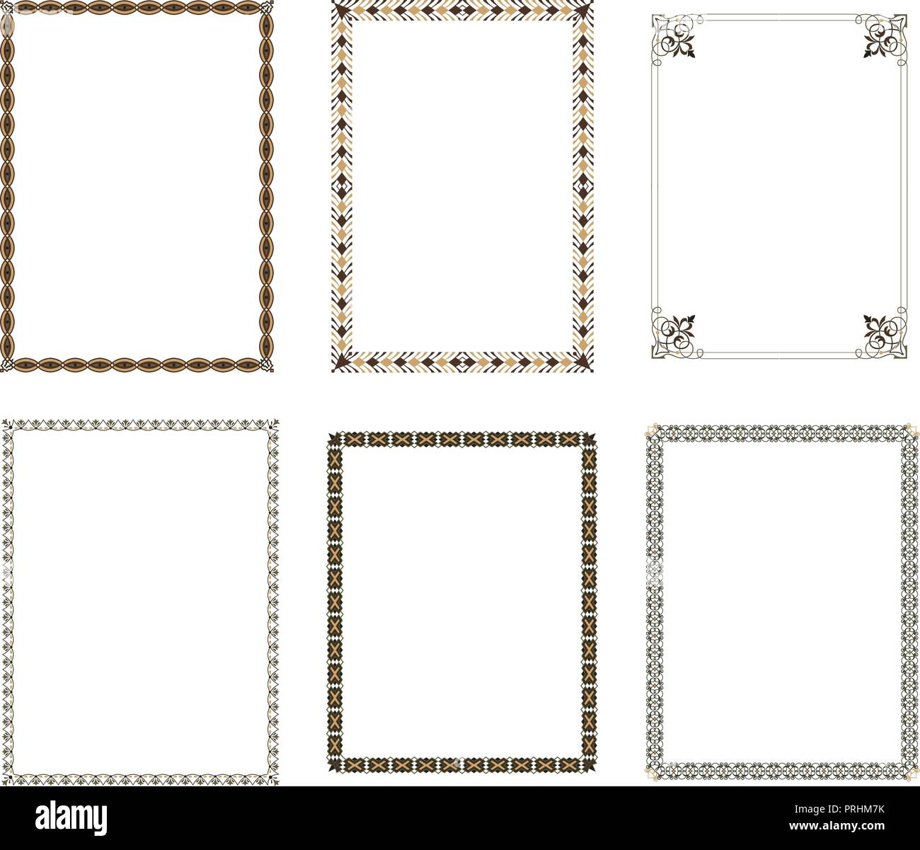 Vector Decorative Frame Elegant Element For Design Template Place