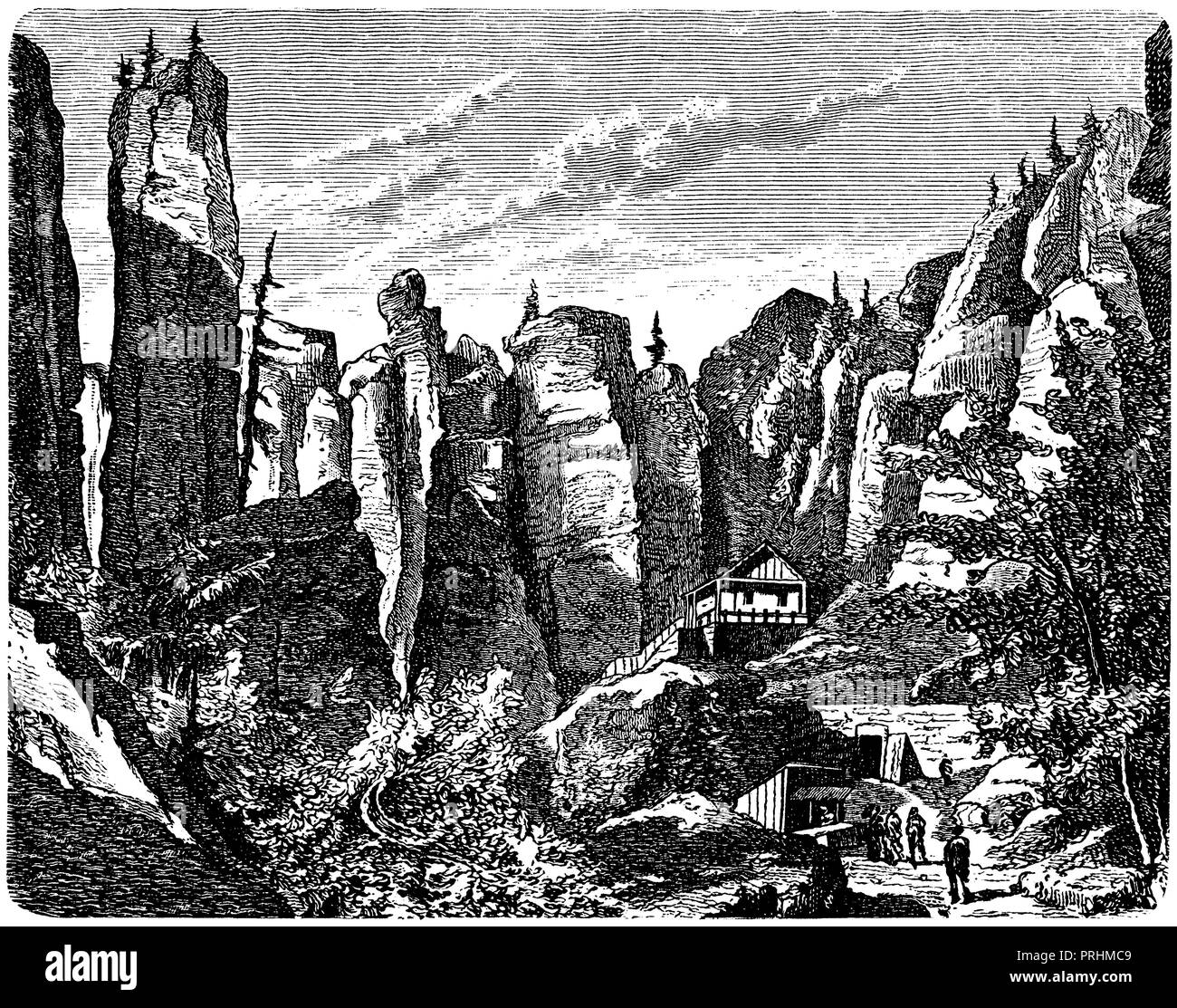 Adersbacher rock, - Stock Image