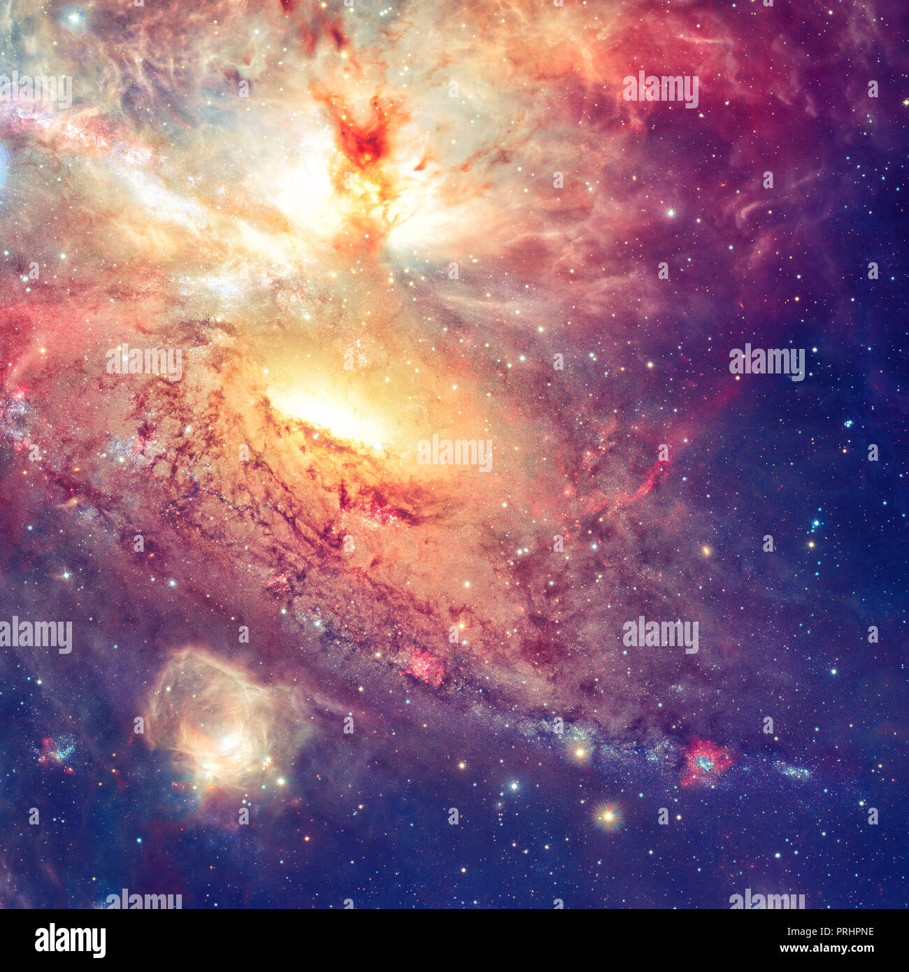 Star field and nebula in outer space - Stock Image