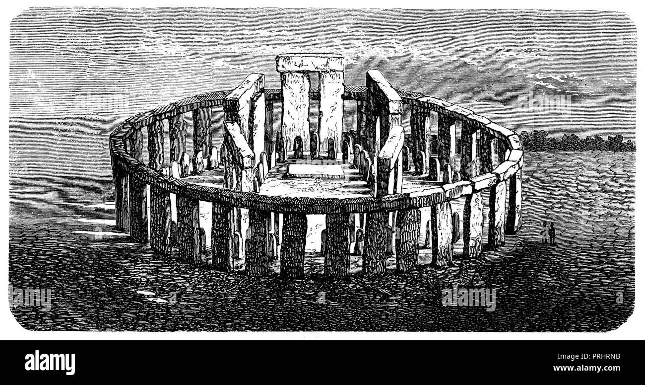 Stonehenge at Salisbury, - Stock Image