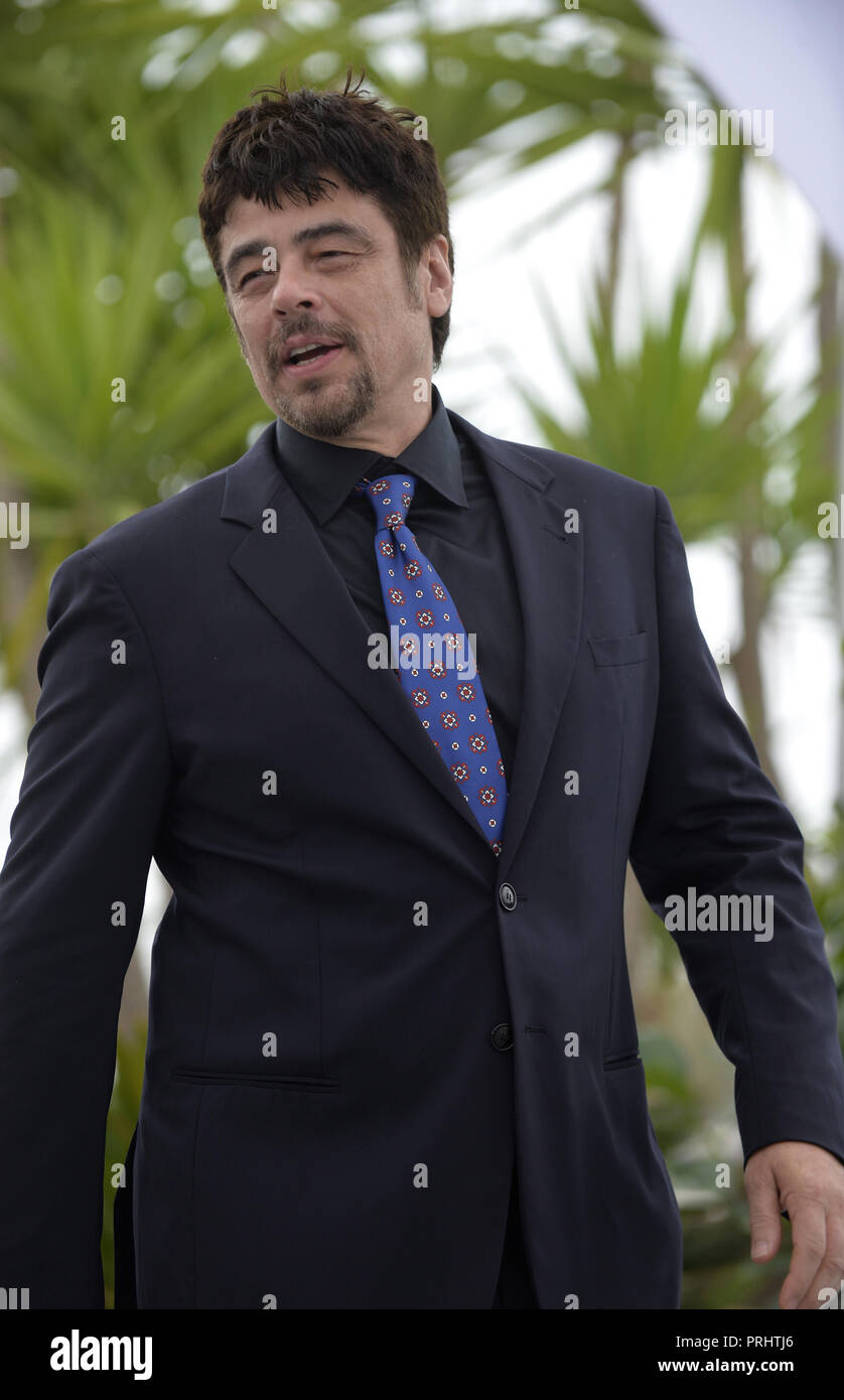 Cannes (south-eastern France). 71st Cannes Film Festival. Benicio Del Toro. Photocall: jury of 'Un certain Regard', a section of the official selectio - Stock Image