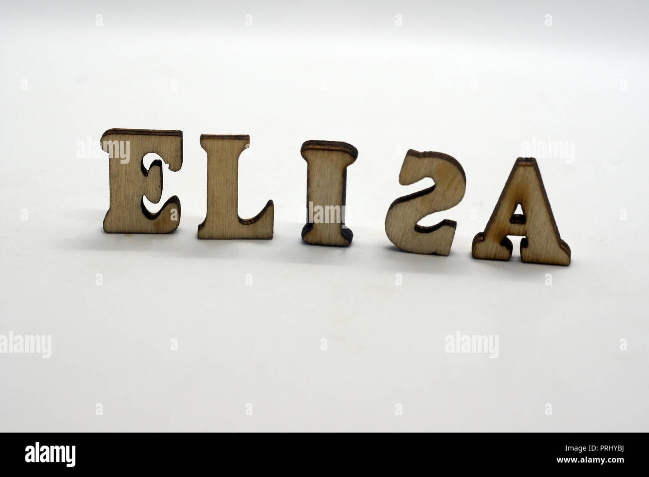 popular ffemale first name elisa - Stock Image