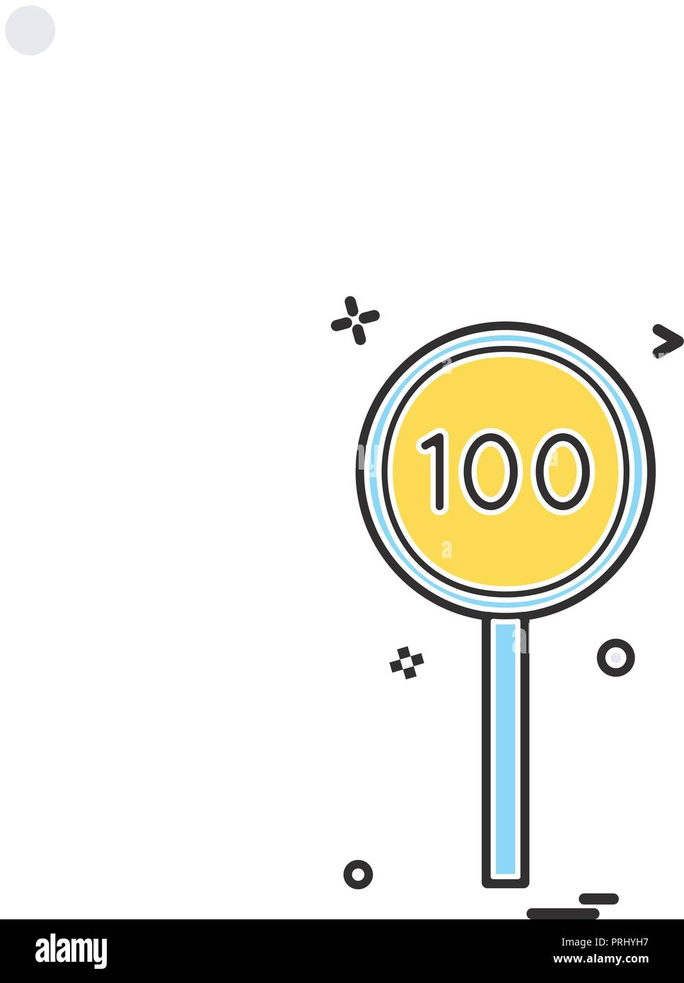 batsmen hundred cricket icon vector design - Stock Vector