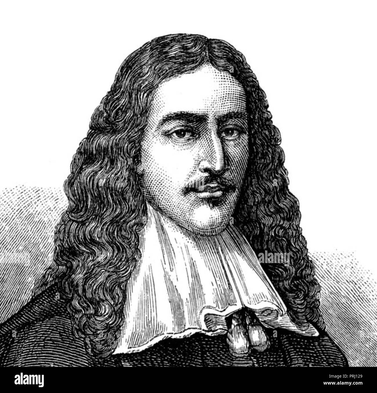 JOHAN de WITT (1625-1672) Dutch politician - Stock Image