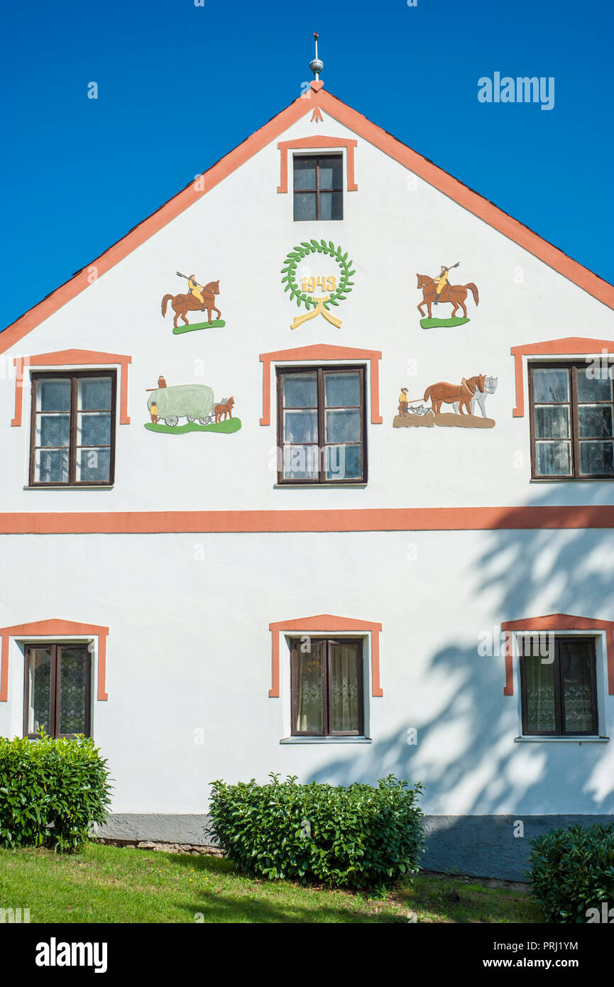 Old village in Czechia named Holasovice. - Stock Image