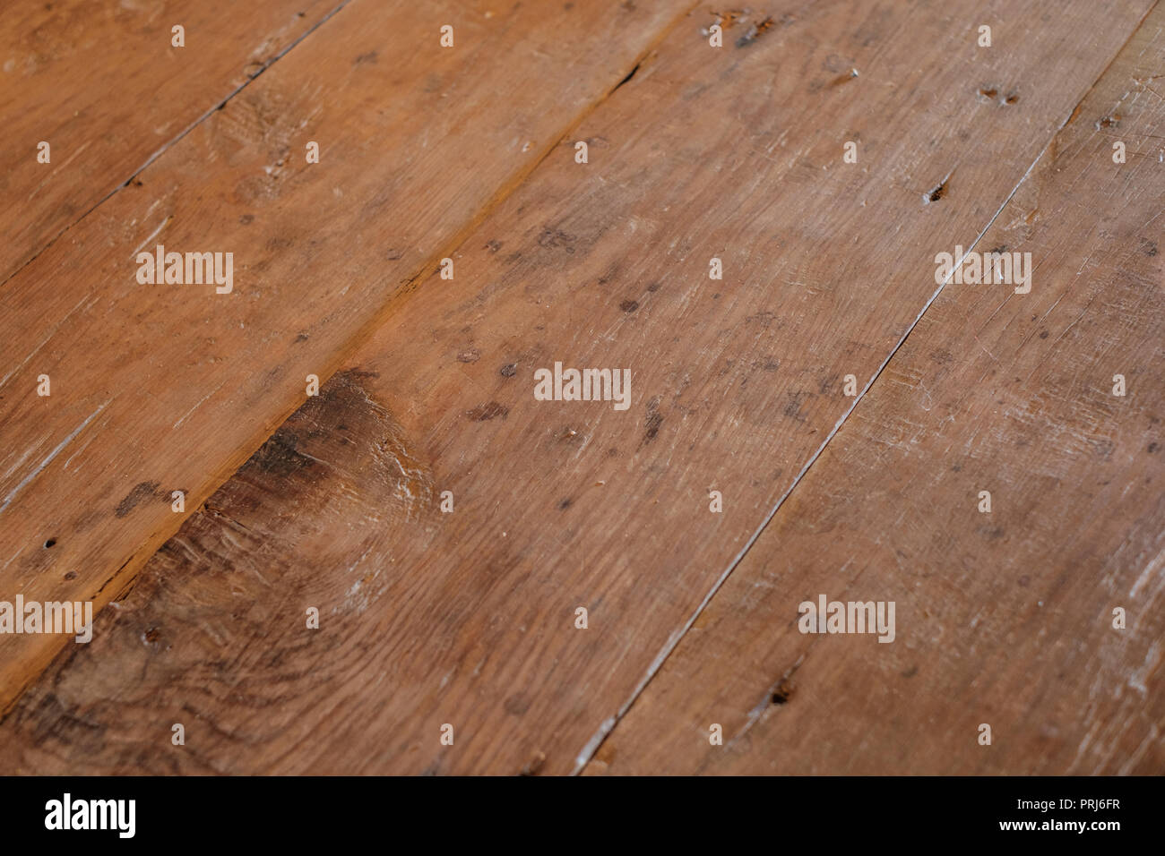 wood table detail, vintage wooden table texture - Stock Image