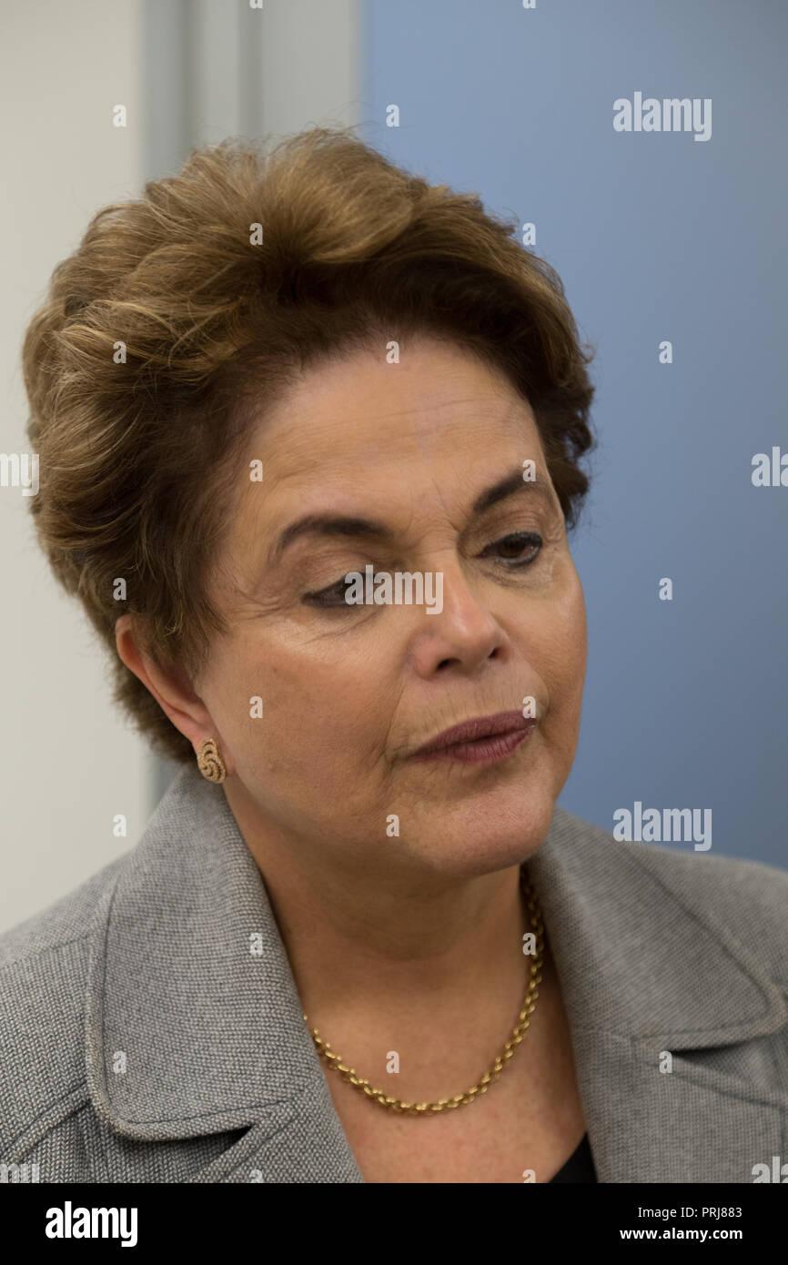 Former Brazilian president Dilma Rousseff - Stock Image