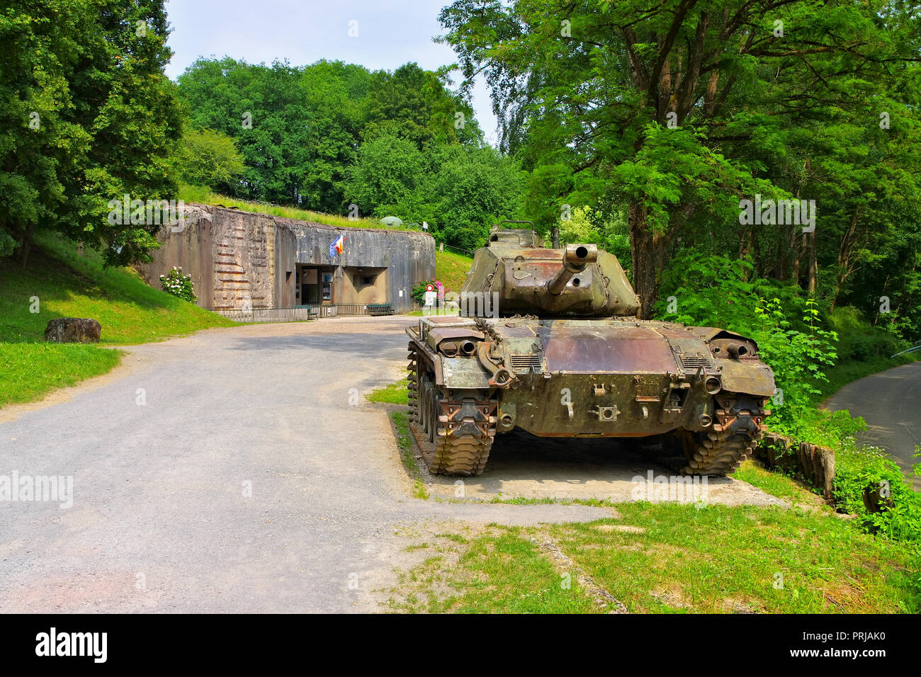 Lembach Ouvrage du Four a Chaux,  French Maginot Line - Stock Image