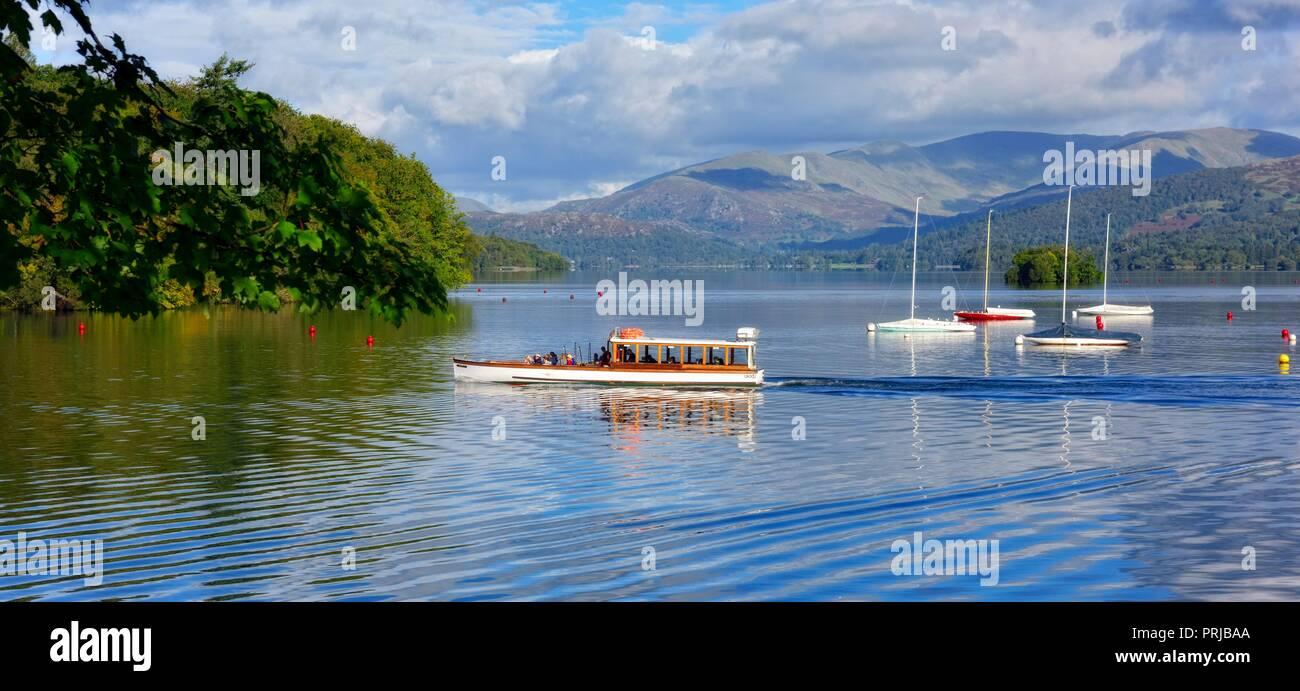 The Lake District, Bowness on Windermere,Cumbria,England,UK - Stock Image