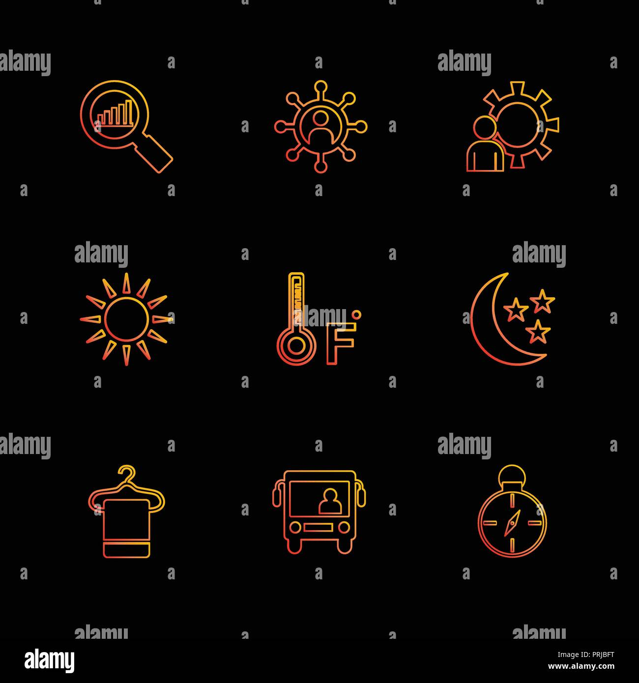 search , compass , temprature , crecent  , Ecology , eco , icons , weather , enviroement , icon, vector, design,  flat,  collection, style, creative,  Stock Vector