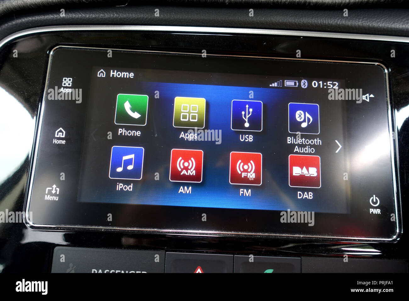 Mitsubishi Outlander touch screen - Stock Image