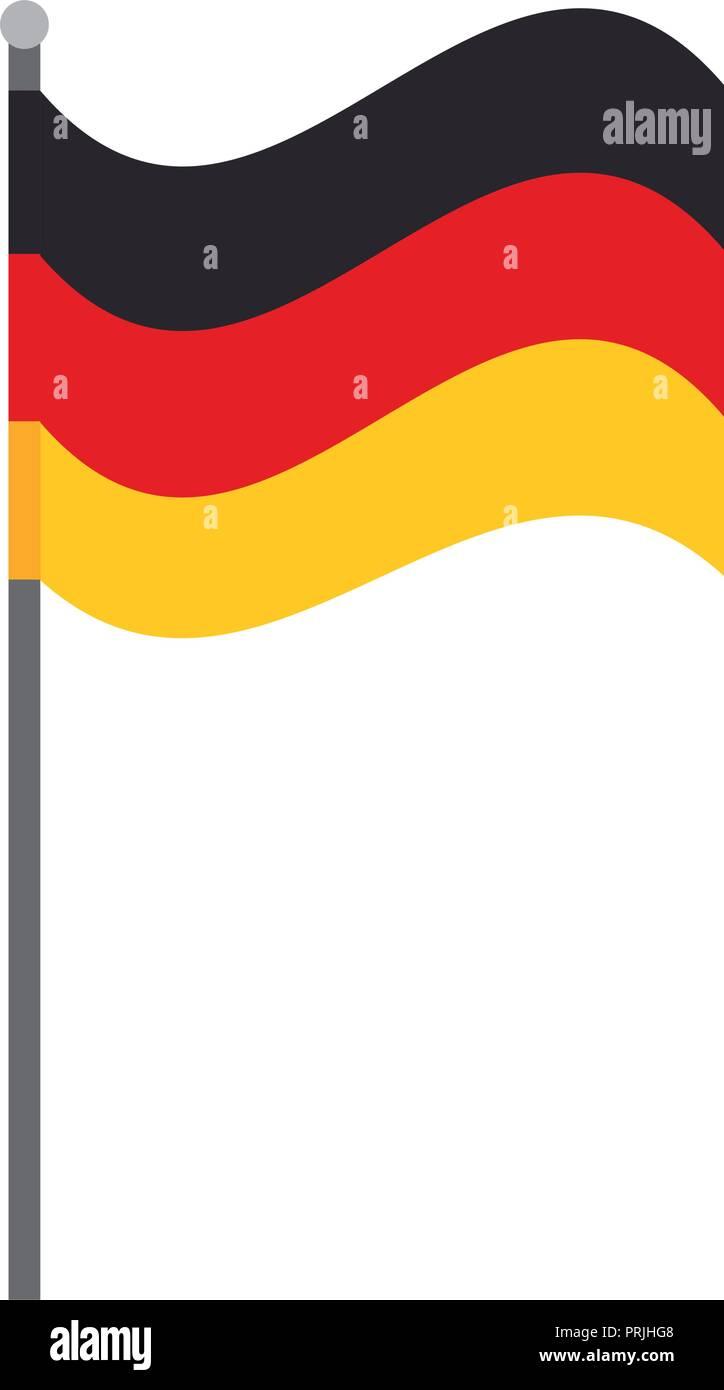 germany flag national symbol isolated - Stock Image