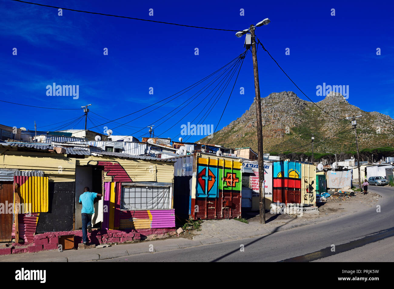 Imizamo Yethu Township, Hout Bay, Cape Town, Western Cape, South Africa Stock Photo
