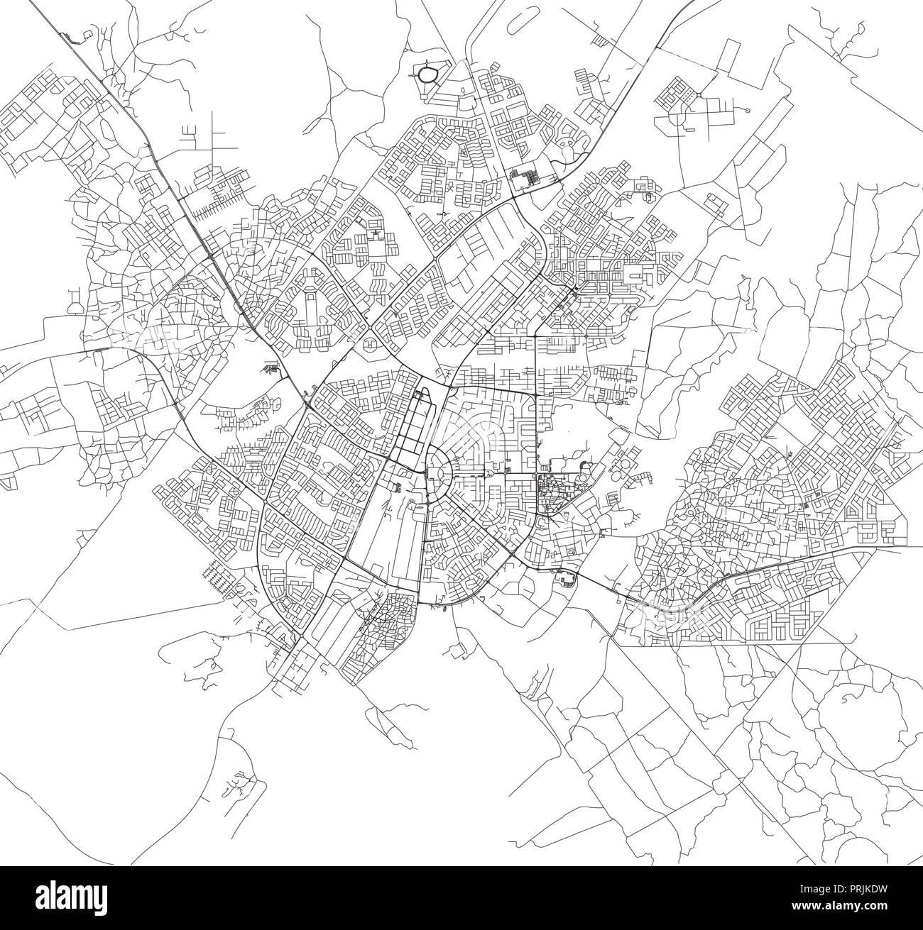 map of gaborone city botswana Satellite Map Of Gaborone Botswana City Streets Street Map Of map of gaborone city botswana