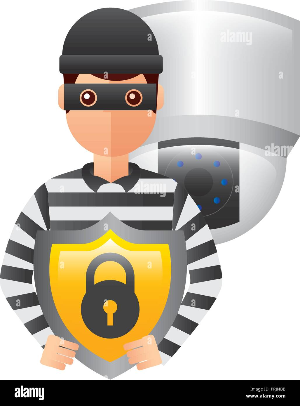 Illustration Cartoon Cctv Security Camera Stock Photos