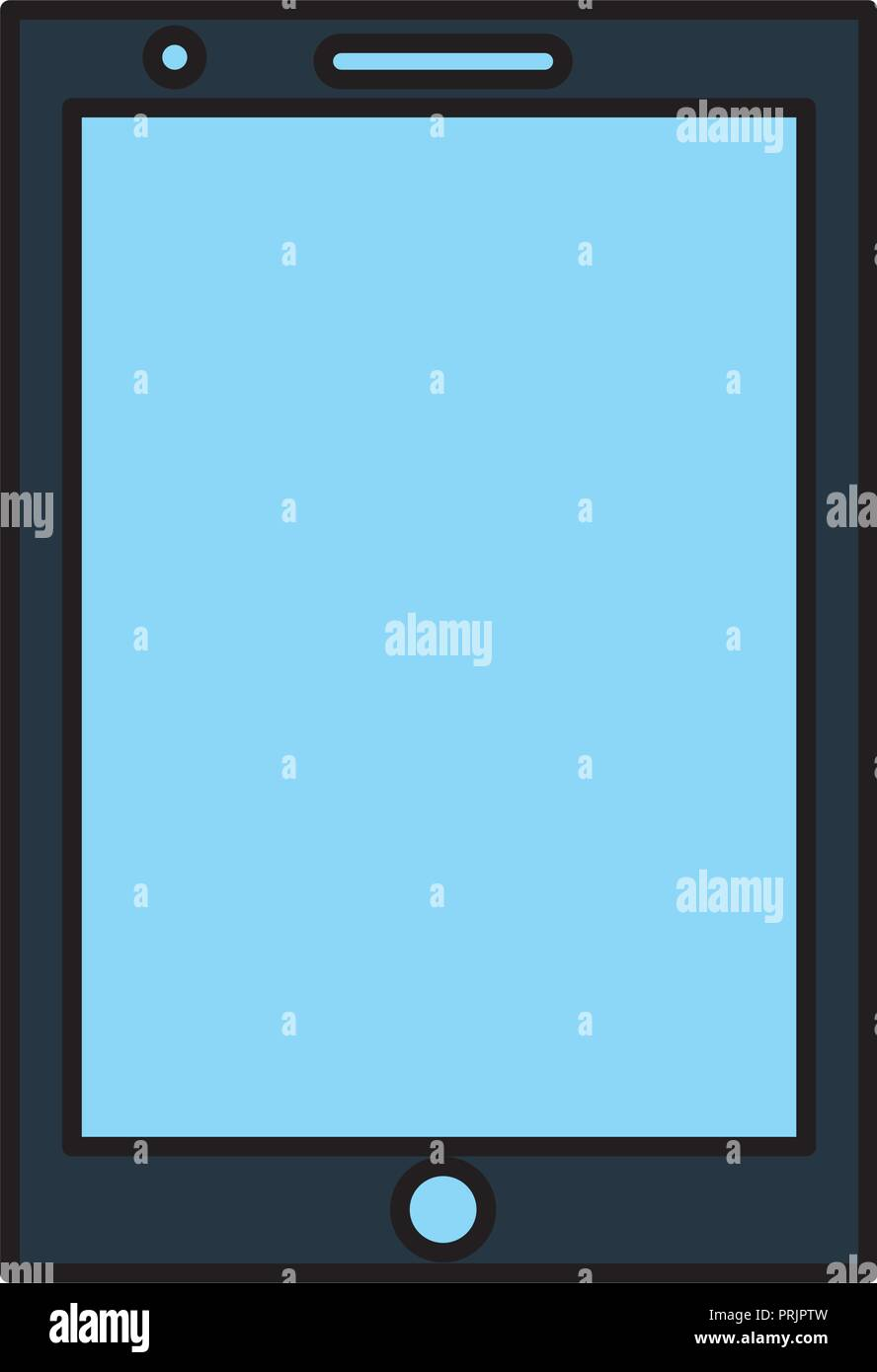 smartphone device digital display technology - Stock Image