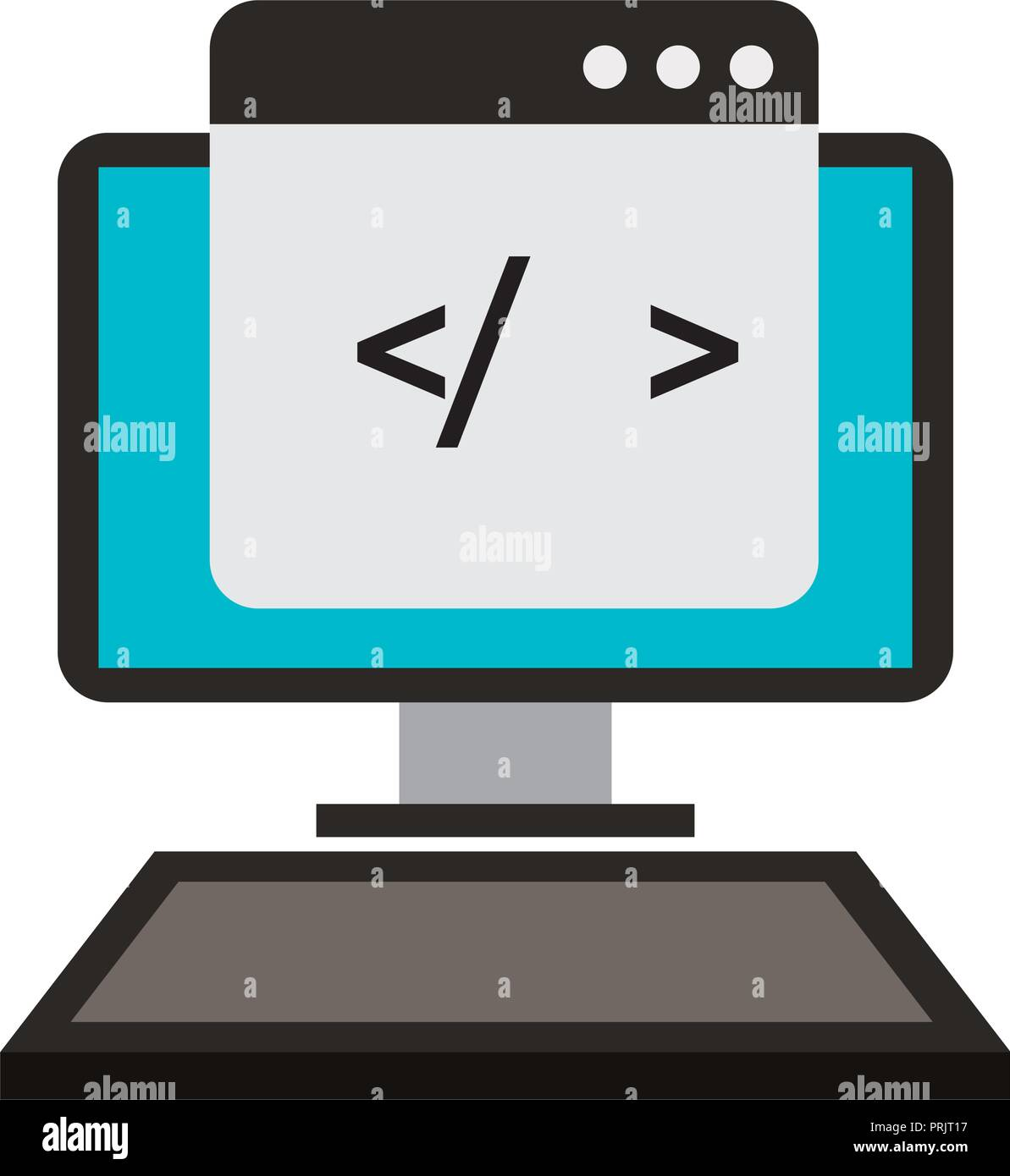 computer technology coding web development - Stock Image